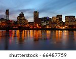 portland oregon at dusk. | Shutterstock . vector #66487759