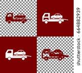tow car evacuation sign. vector.... | Shutterstock .eps vector #664882939