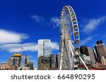 06 june  2017. seattle.... | Shutterstock . vector #664890295