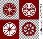 fruits lemon sign. vector.... | Shutterstock .eps vector #664895221