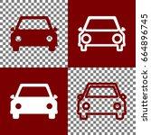 car sign illustration. vector.... | Shutterstock .eps vector #664896745