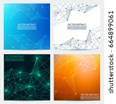 abstract line. set of... | Shutterstock .eps vector #664899061