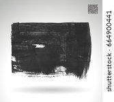 grey brush stroke and texture.... | Shutterstock .eps vector #664900441