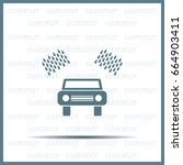 car wash vector icon. | Shutterstock .eps vector #664903411