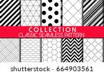 collection of seamless vector...   Shutterstock .eps vector #664903561