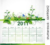 Calendar Eco Leaf Vector Design