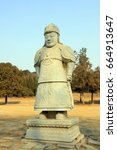 Stone Statues Of Ancient...
