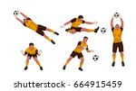 goal keeper set | Shutterstock .eps vector #664915459