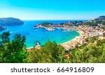 port de soller  mallorca  spain | Shutterstock . vector #664916809