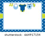 Vector Card Template With Baby...