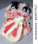 cherry ice cream | Shutterstock . vector #664917517