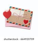 vector illustration of love... | Shutterstock .eps vector #664920709