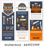 home repair banners for house... | Shutterstock .eps vector #664921909