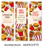 fast food banners design of... | Shutterstock .eps vector #664921975