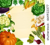 cooking recipe vector template... | Shutterstock .eps vector #664922377