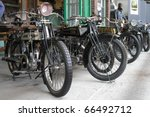 Постер, плакат: Exhibition of early motorcycles