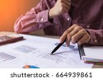 people check profit fund graph... | Shutterstock . vector #664939861