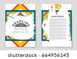 abstract vector layout... | Shutterstock .eps vector #664956145