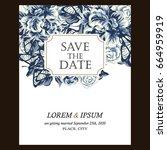 romantic invitation. wedding ...   Shutterstock .eps vector #664959919