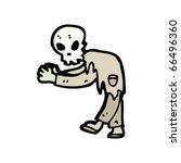 zombie creature cartoon   Shutterstock .eps vector #66496360
