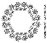 circular frame deoration floral | Shutterstock .eps vector #664980565
