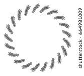 circular frame deoration floral | Shutterstock .eps vector #664981009
