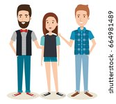 young people design | Shutterstock .eps vector #664981489