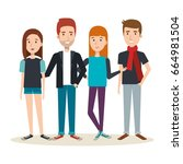 young people design | Shutterstock .eps vector #664981504