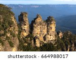 three sisters  blue mountains...   Shutterstock . vector #664988017