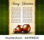 vintage christmas baubles... | Shutterstock .eps vector #66498826