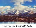 Mountain Landscape in Colorado Rocky Mountains, Colorado, United States. - stock photo