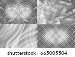 collection of images silver.... | Shutterstock . vector #665005504