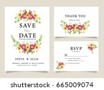 wedding card invitation... | Shutterstock .eps vector #665009074