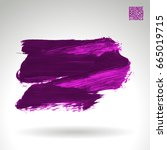 purple brush stroke and texture.... | Shutterstock .eps vector #665019715
