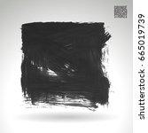 grey brush stroke and texture.... | Shutterstock .eps vector #665019739