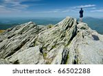 Hiker On Camels Hump In Vermon...