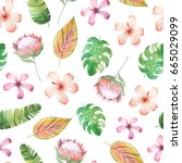 seamless pattern with... | Shutterstock . vector #665029099