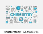 chemistry creative modern... | Shutterstock .eps vector #665031841