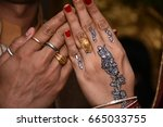 wedding hand | Shutterstock . vector #665033755
