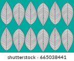 leaf pattern    illustration... | Shutterstock .eps vector #665038441