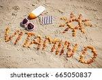 medical pills  inscription... | Shutterstock . vector #665050837