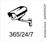 security camera icon vector | Shutterstock .eps vector #665059429