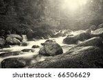 beautiful black and white bulgarian nature - stock photo