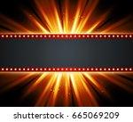 retro light sign. vintage style ...   Shutterstock . vector #665069209