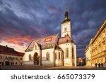 church of st.mark in st.mark's... | Shutterstock . vector #665073379