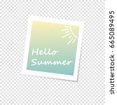 photo frame with shadow on a... | Shutterstock .eps vector #665089495