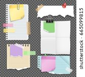 paper sheets with stationery... | Shutterstock .eps vector #665099815