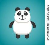 panda bear cute animal sweet... | Shutterstock .eps vector #665101039