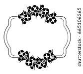 black and white silhouette... | Shutterstock .eps vector #665106265