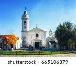 church basilica de nuestra... | Shutterstock . vector #665106379